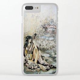 Aki No Ogawa (Creek with Bamboo) Clear iPhone Case