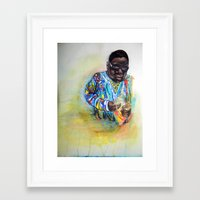 biggie smalls Framed Art Prints featuring Biggie Smalls  by Caitlyn Carter