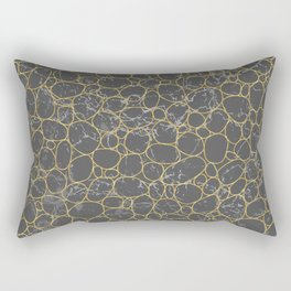 Gold pebbles marble pattern Rectangular Pillow