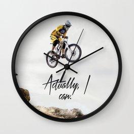 ACTUALLY, I CAN Wall Clock