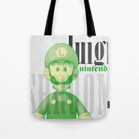 luigi Tote Bags featuring Luigi by Thomas Official