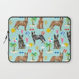 Australian Cattle Dog beach tropical pet friendly dog breed dog pattern art Laptop Sleeve