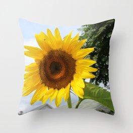 une seule fleur Throw Pillow