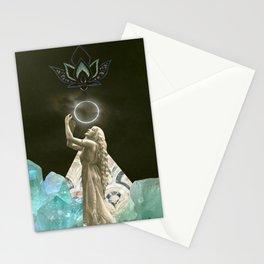 Aquarius Solar Eclipse Stationery Cards