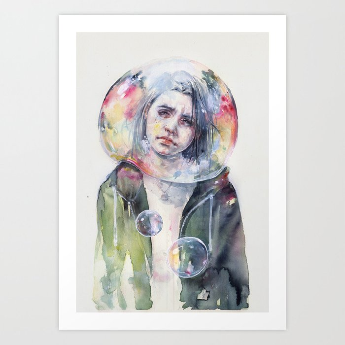 Discover the motif GOODMORNING WORLD by Agnes Cecile as a print at TOPPOSTER