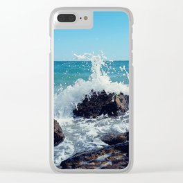 wave splash Clear iPhone Case