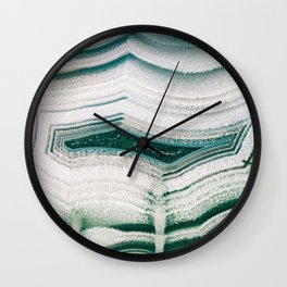 Green Agate Wall Clock