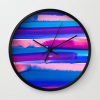study Wall Clocks featuring Color Study by Jacqueline Maldonado