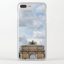 Arc du Carrousel Under the Sky Clear iPhone Case