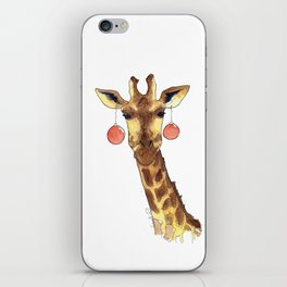 Girafe de Noël iPhone Skin