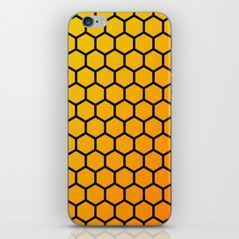 Yellow and orange honeycomb pattern iPhone Skin