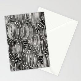 Black Vietnamese Lanterns Stationery Cards