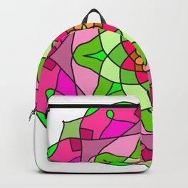 teal floral mandala Backpack
