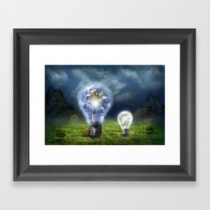The earth and the little brother Framed Art Print