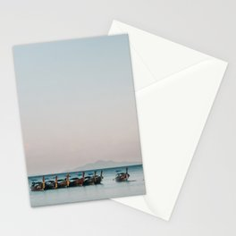 Boats on the Andaman Sea Stationery Cards
