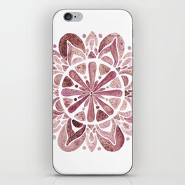 Watercolor Mandala III burgundy iPhone Skin
