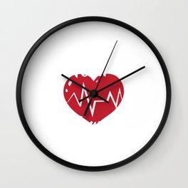 Heart Warrior Heart Cardiologist Survivor For Patients Wall Clock