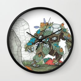 Walking Earth Wall Clock