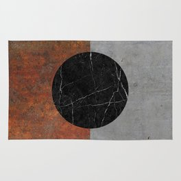 Abstract - Marble, Concrete, Rusted Iron Rug