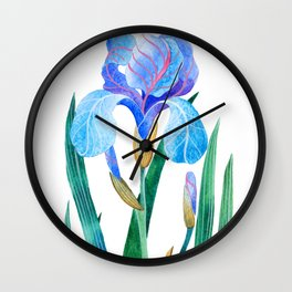 Light Blue Iris Wall Clock
