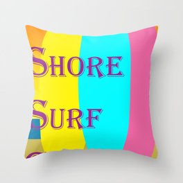Belmont Shore Surf Club Throw Pillow