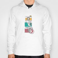 cameras Hoodies featuring Stacked Cameras by Benjamin.draws