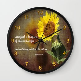 Faithful Sunflower Wall Clock