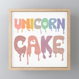 Unicorn Cake Framed Mini Art Print