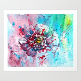 Colorful and abstract Flower n.2 Art Print