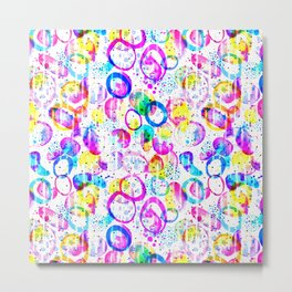 Sweet As Candy - colorful watercolor pattern by Lo Lah Studio Metal Print
