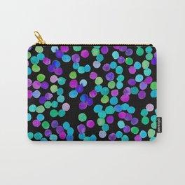 Watercolour Purple Blue Dots Carry-All Pouch