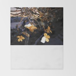 Frozen Flowers Throw Blanket
