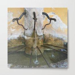 France Water Fountain Metal Print
