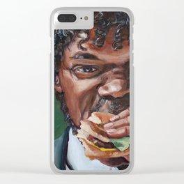 Jules Eat A Big Kahun Burger - Pulp Fiction Painting Clear iPhone Case