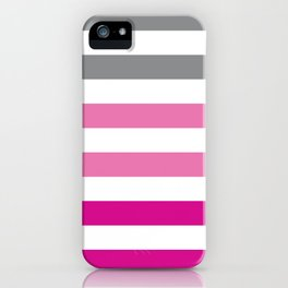Stripes Gradient - Pink iPhone Case