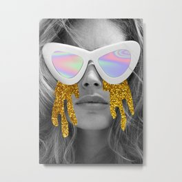 Glitter Model Metal Print