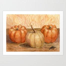 Mini Pumpkins I Art Print