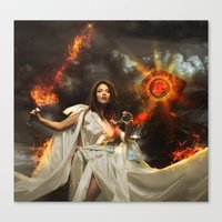 libra Canvas Prints featuring Libra by EnchantedWhispers