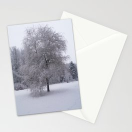 Tree and snow Stationery Cards