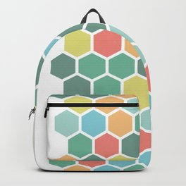 Texture hexagons - Spring's colors Backpack