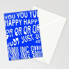 ARE YOU HAPPY OR JUST SMILING Stationery Cards