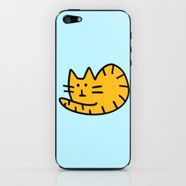 Orange tabby cat iPhone Skin