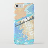 rowing iPhone & iPod Cases featuring Rowing at dawn by enpleinair