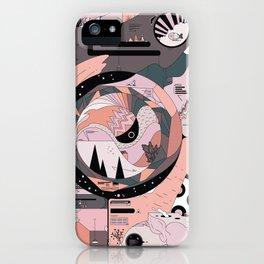 Dinosaur in the Kitchen iPhone Case