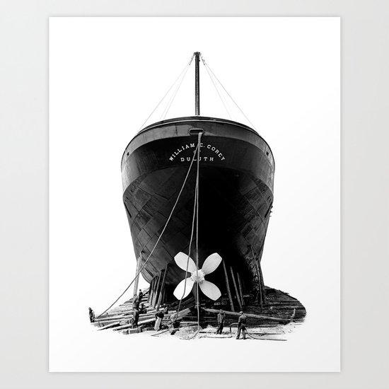 Ship William E. Corey Art Print
