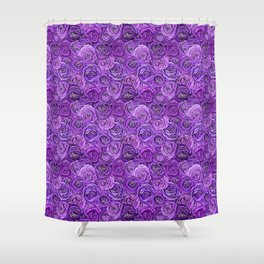 valentines roses in purple / ultraviolet Shower Curtain