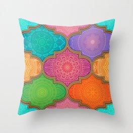 Mandala Quilt Second Edition Throw Pillow