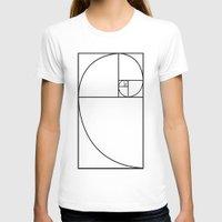 fibonacci T-shirts featuring fibonacci spiral by nyealexanda