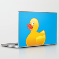 donald duck Laptop & iPad Skins featuring Duck Duck by McGrathDesigns