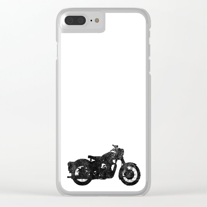 Motorcycle Silhouette Clear iPhone Case